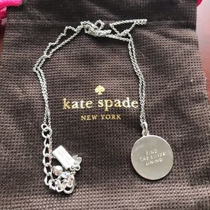 """Kate Spade """"Find the Silver Lining"""" Necklace"""
